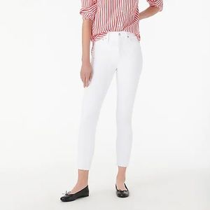 """J. Crew 10"""" highest-rise toothpick jean in white"""